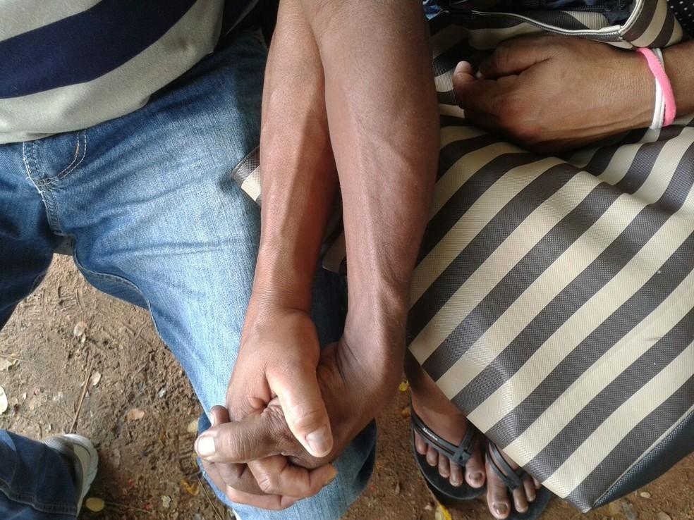 Casal Maria e Ronei fazem tratamento no Giselda Trigueiro (Foto: Lucas Cortez/G1 RN)
