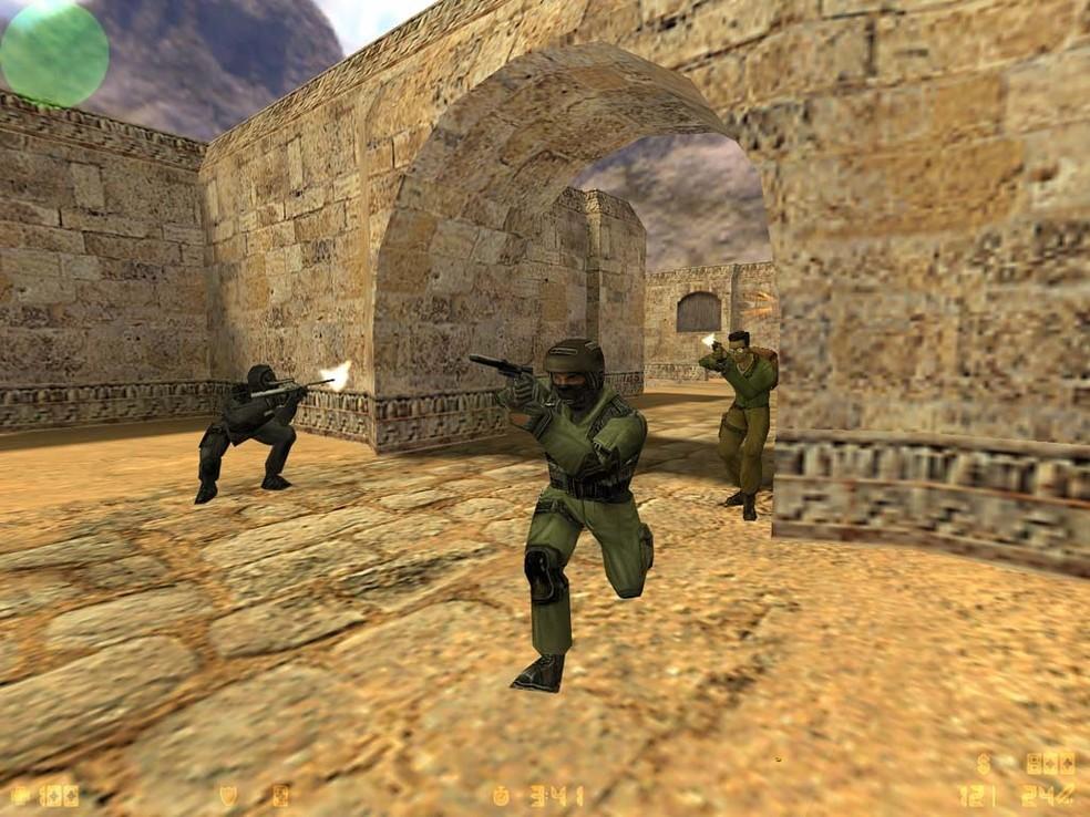 CS 1.6 foi lançado oficialmente em 2000 e ainda é popular na Steam — Foto: Divulgação/Valve