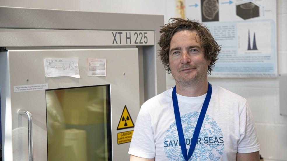 Richard Johnson, que liderou o estudo sobre as imagens em 3D das múmias egípcias — Foto: Swansea University