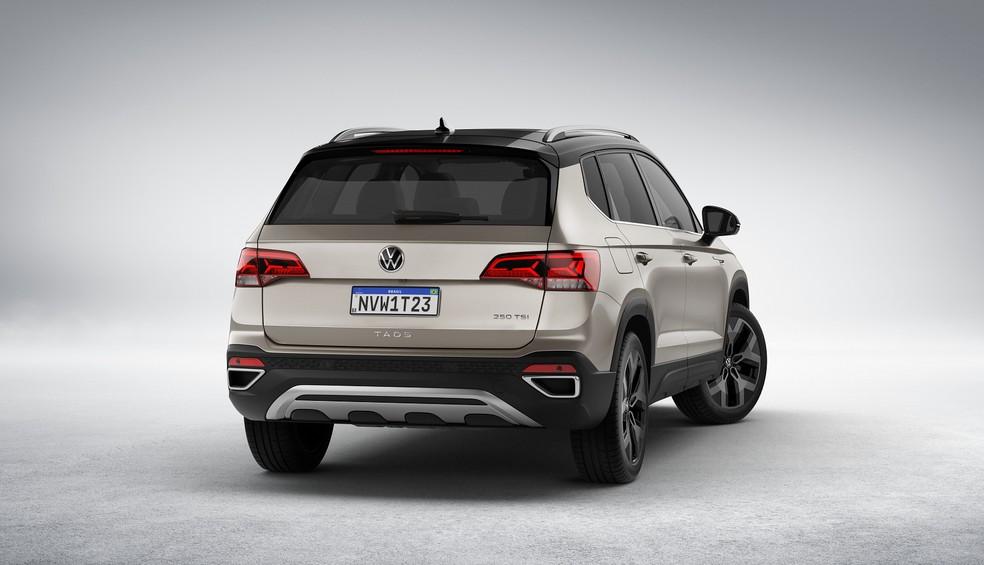 Volkswagen Taos é baseado no Tharu, vendido na China, mas com algumas mudanças para ser vendido na América Latina — Foto: Divulgação