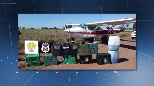 Avião que transportava droga da Bolívia é interceptado pela FAB e faz pouso forçado em MT