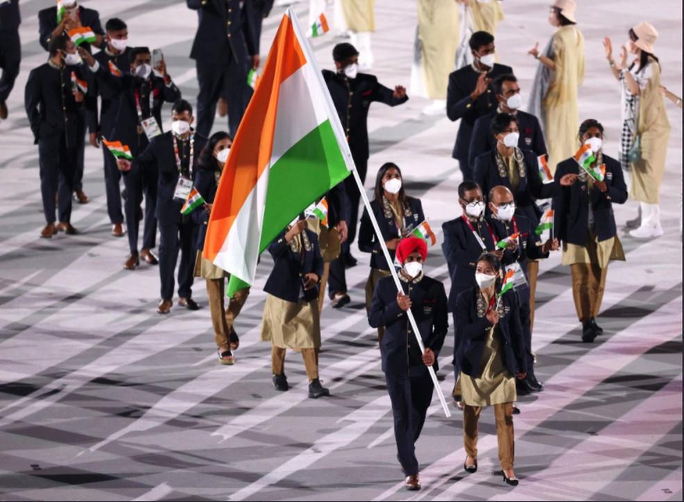 Delegação da Índia — Foto: @olympics