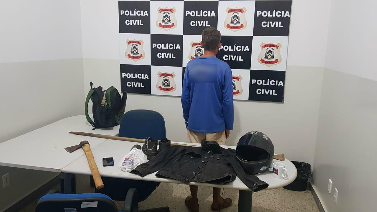 Polícia prende suspeito de matar homem encontrado em cisterna; machado seria arma do crime - Notícias - Plantão Diário