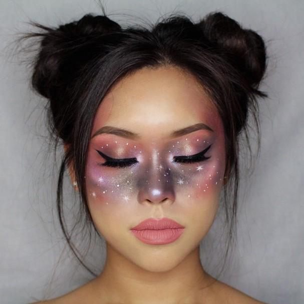 Maquiagem celestial é febre na internet (Foto: Reprodução/Instagram)