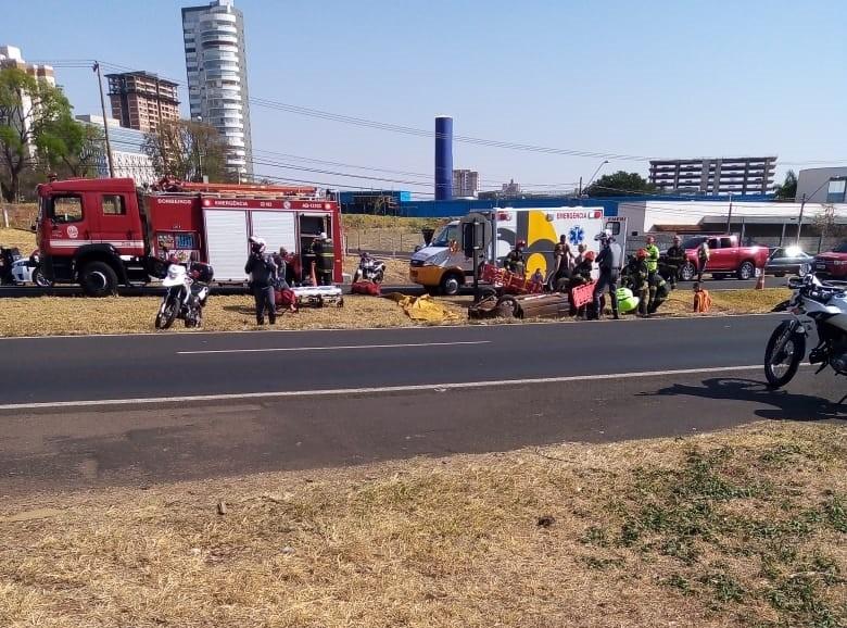 Idosa morre e três ficam feridos após carro capotar em rodovia de Rio Preto