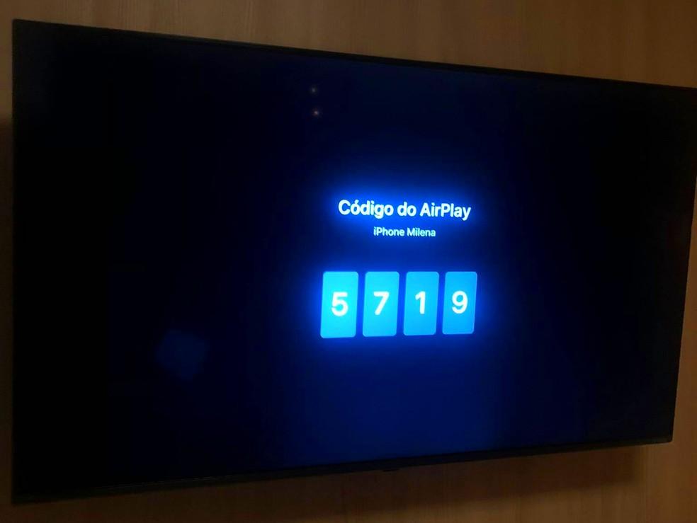 Código de pareamento AirPlay — Foto: Reprodução/Milena Garcia
