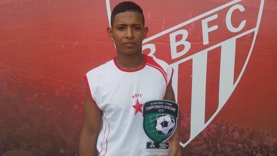 Agora no Rio Branco-AC, autor de gol mais bonito do 2º turno do Acreano celebra sonho realizado