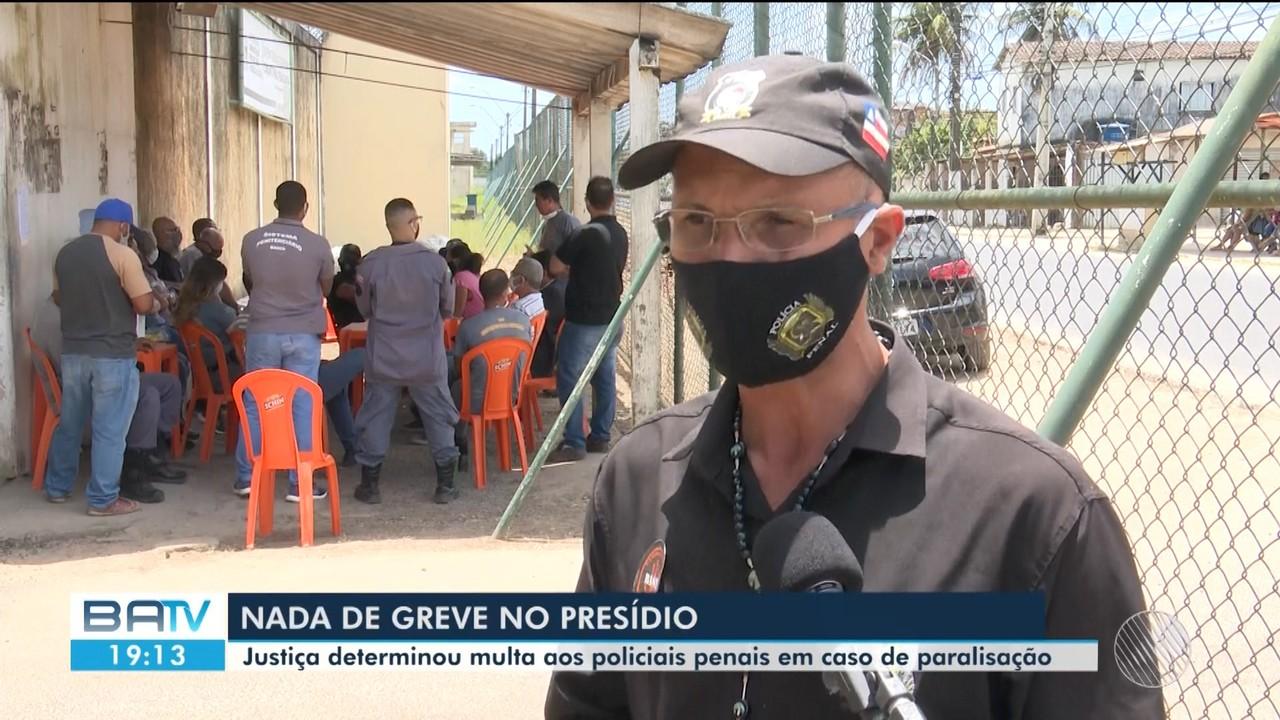 Policiais penais ameaçam continuar paralisação na Bahia