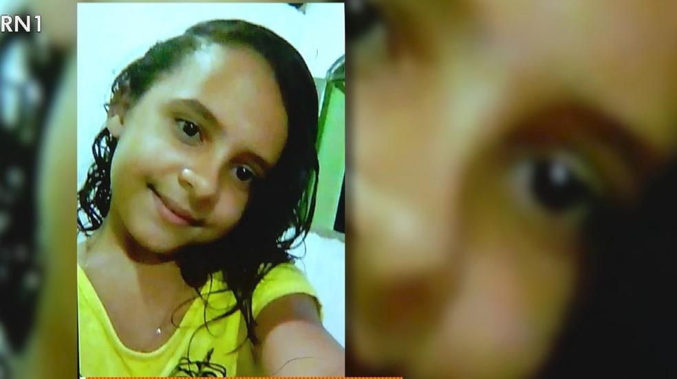 Maria Carla da Silva, de 12 anos, sumiu dia 18 de setembro em Apodi — Foto: Reprodução/Inter TV Cabugi