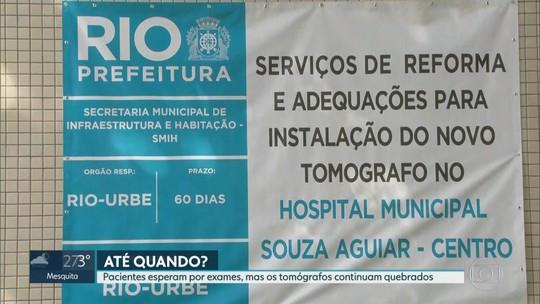 Três grandes hospitais de emergência do Rio estão sem tomógrafo