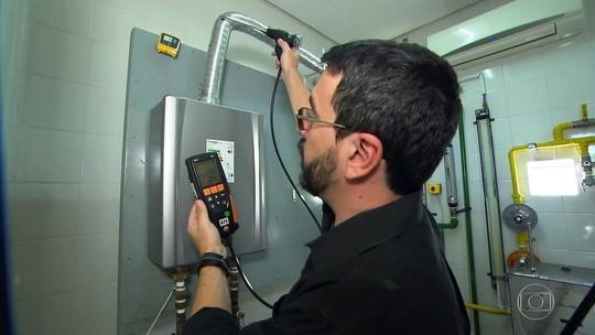 Equipamento especial mostra risco de monóxido de carbono em casa