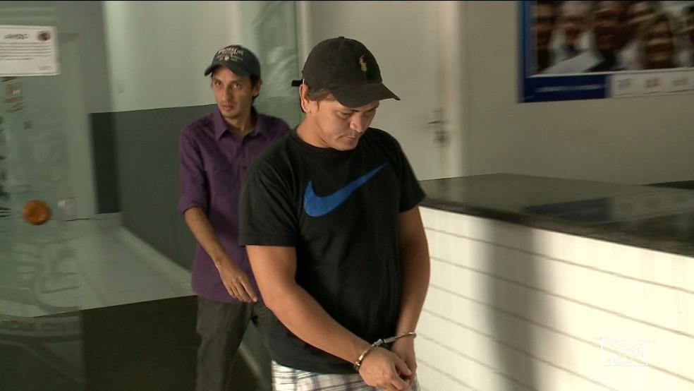 Isaque Vital foi preso na manhã desta quinta-feira (29) no bairro Araçagy — Foto: Reprodução/ TV Mirante