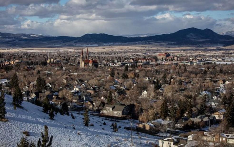 O Estado de Montana, onde Brayden morava, tem mais suicídios do que qualquer outro  — Foto: Arquivo pessoal/BBC