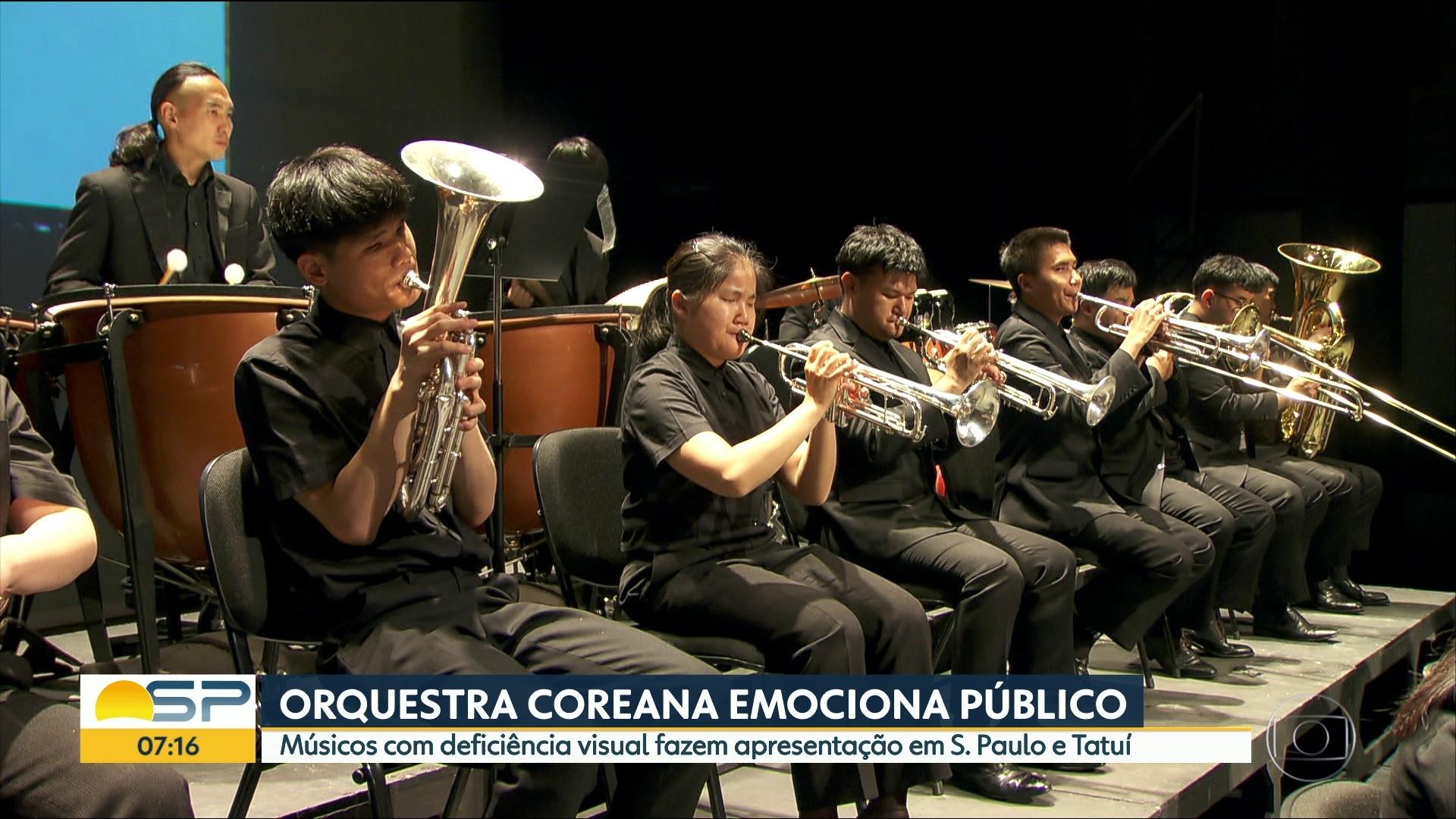 Orquestra coreana de músicos cegos se apresenta em SP