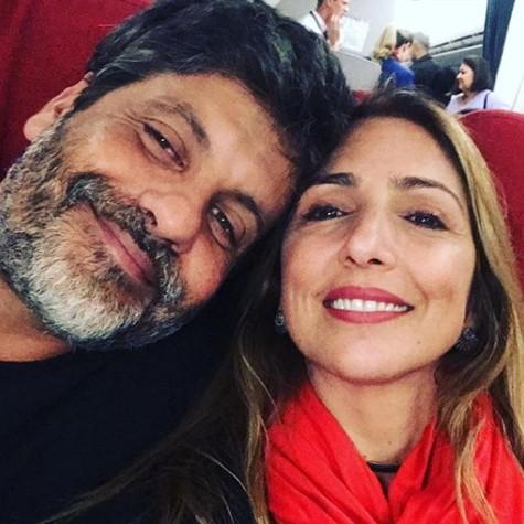 Pedro Vasconcelos com a mulher, Flávia Garrafa (Foto: Reprodução)