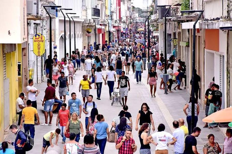 Rua Grande, em São Luís — Foto: Agência São Luís