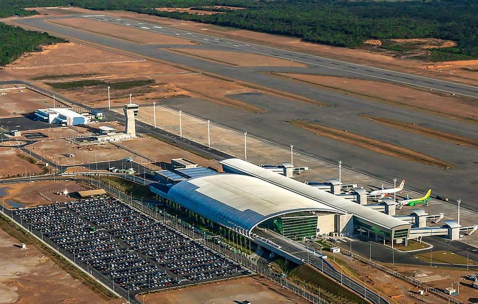 Aeroporto Internacional Governador Aluízio Alves fica em São Gonçalo do Amarante, na Grande Natal — Foto: Canindé Soares