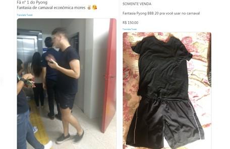Praticidade: roupa preta de Pyong Lee inspira quem quer um traje fácil para os blocos Reprodução/Twitter