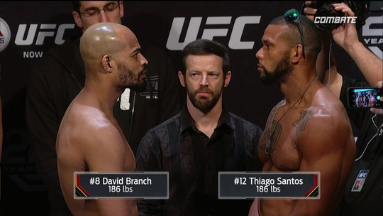 David Branch e Thiago Santos passam pela pesagem do UFC Atlantic City