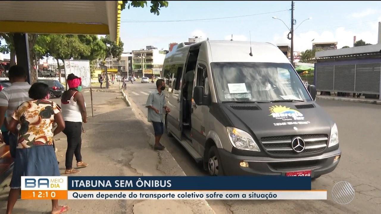 Ônibus continuam sem rodar em Itabuna, sul da Bahia; moradores reclamam da situação