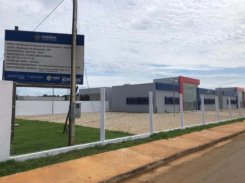 Mesmo com prédio pronto, núcleo com IML não tem data de inauguração em Ariquemes, RO — Foto: Jeferson Carlos/G1