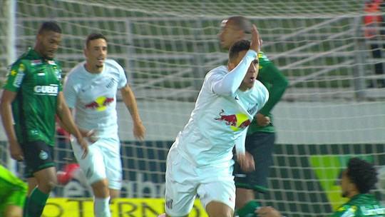 Os gols de Bragantino 1 x 1 Coritiba pela Série B do Campeonato Brasileiro