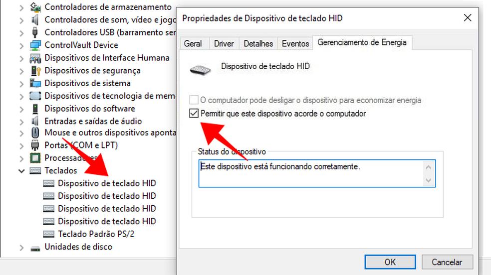 Use o dispositivo para voltar da suspenso no computador com Windows  Foto ReproduoPaulo Alves