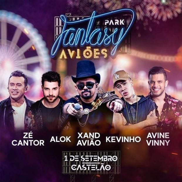 Xand Avião se apresenta no Fantasy Park! em Fortaleza neste sábado (1) (Foto: Divulgação)
