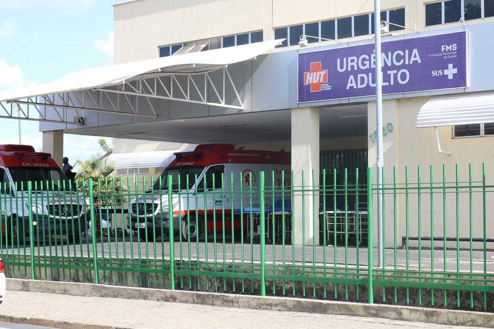 Hospital de Urgência de Teresina (HUT) — Foto: Lucas Marreiros/G1