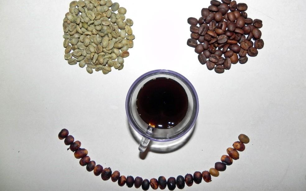 Variedade de cafés — Foto: Jonatam Marinho