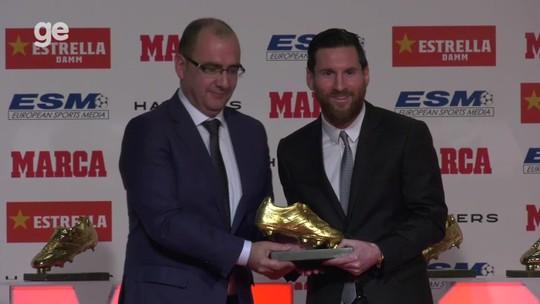 Artilheiro da Europa em 2017/18, Messi recebe sua quinta Chuteira de Ouro