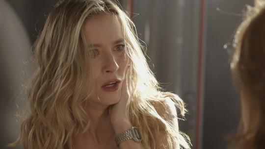 Teaser: Juliana surta ao saber que Bárbara humilhou Jabá