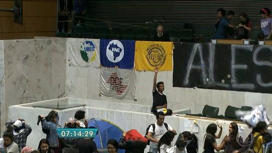 Estudantes ocupam Assembleia Legislativa de São Paulo há 36 horas