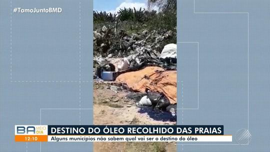 Galpões, imóvel abandonado, terrenos: Saiba qual é o destino do óleo recolhido em praias de Salvador e do interior da BA