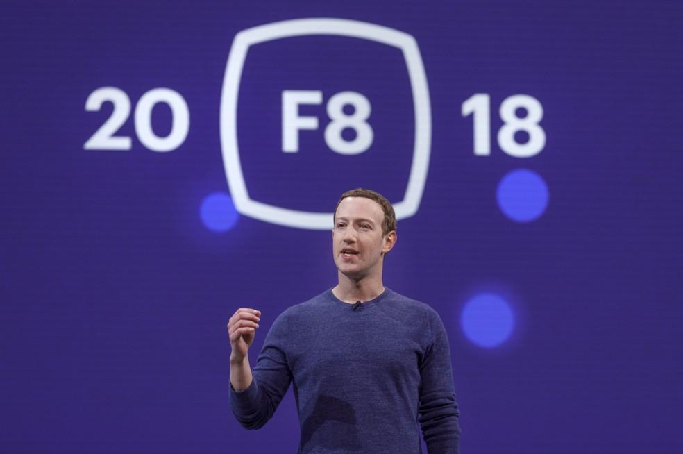 Mark Zuckerberg apresentou keynote na F8 2018 — Foto: Divulgação/Facebook