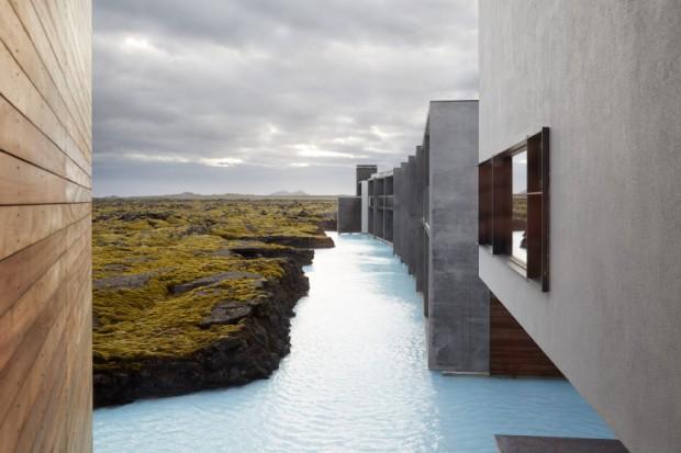 Hotel na Islândia tem parades feitas com rochas de lavas (Foto: Divulgação)
