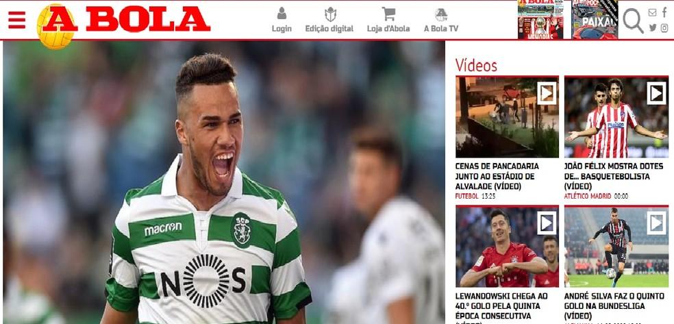 Luiz Phellype é observado pelo Grêmio — Foto: Reprodução