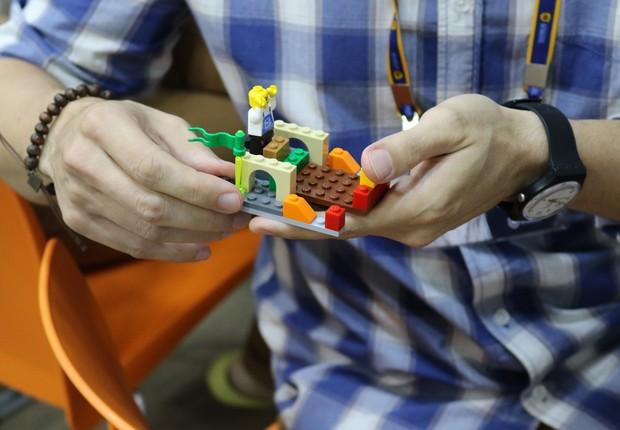 A International School usa peças de LEGO em seus processos seletivos (Foto: Divulgação)