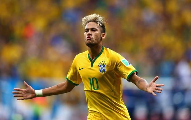 Neymar segundo gol Brasil x Camarões (Foto: Getty Images)