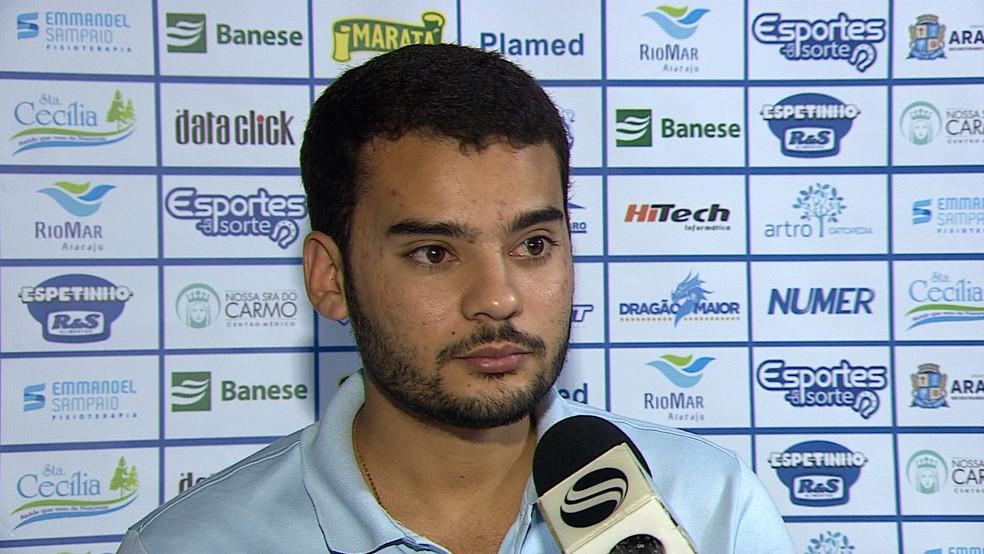 Hyago, presidente do Confiança (Foto: Reprodução/TV Sergipe)