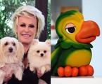 Ana Maria Braga com os cães e o Louro José | Divulgação