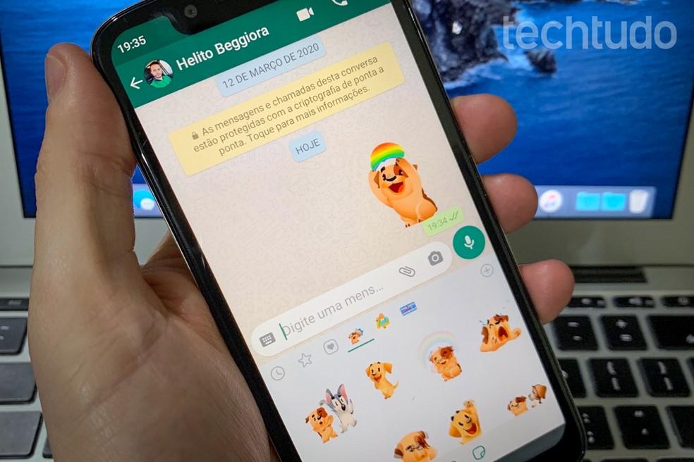 Figurinhas animadas no WhatsApp: como ter stickers que se mexem — Foto: Helito Beggiora/TechTudo