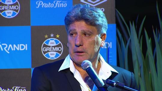 """Após estátua, Renato Gaúcho é elogiado no Redação SporTV: """"Profissional, dedicado"""""""