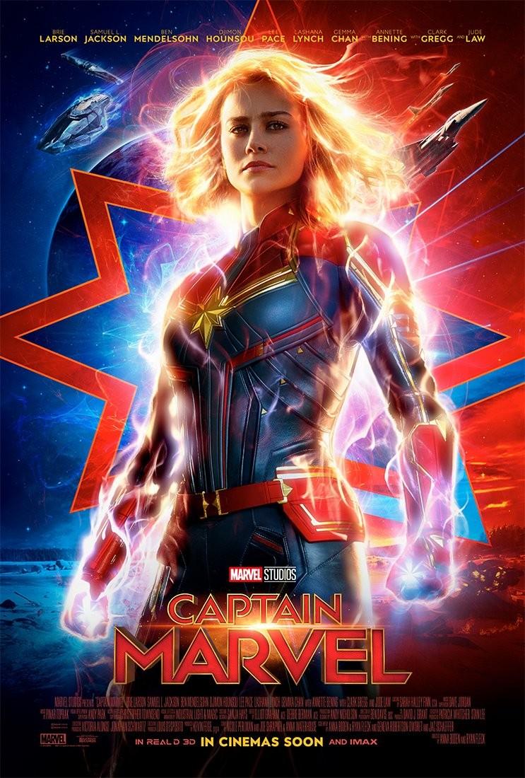 Brie Larson como Carol Danvers, a Capitã Marvel, em novo cartaz do filme (Foto: Divulgação)