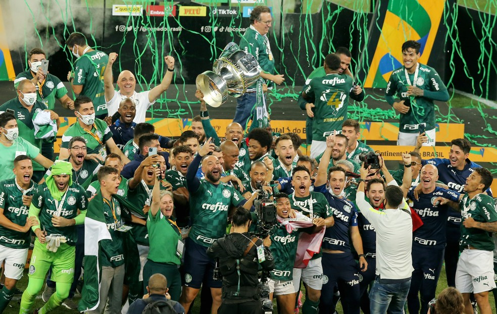 Palmeiras comemora título da Copa do Brasil — Foto: REUTERS/Carla Carniel