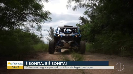 """""""Vai Encarar?"""" mostra belezas do Parque Estadual da Costa do Sol pilotando um UTV 4x4"""
