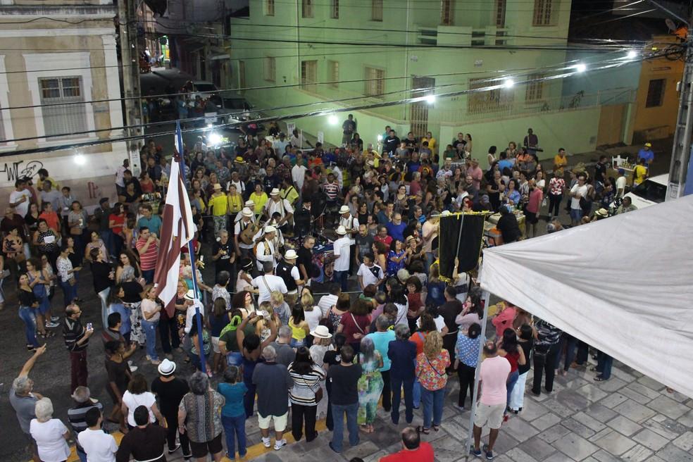 Serestas ao Luar movimenta noites de sexta-feira, a cada 15 dias, no Centro Histórico de Natal. — Foto: GP Fernandes