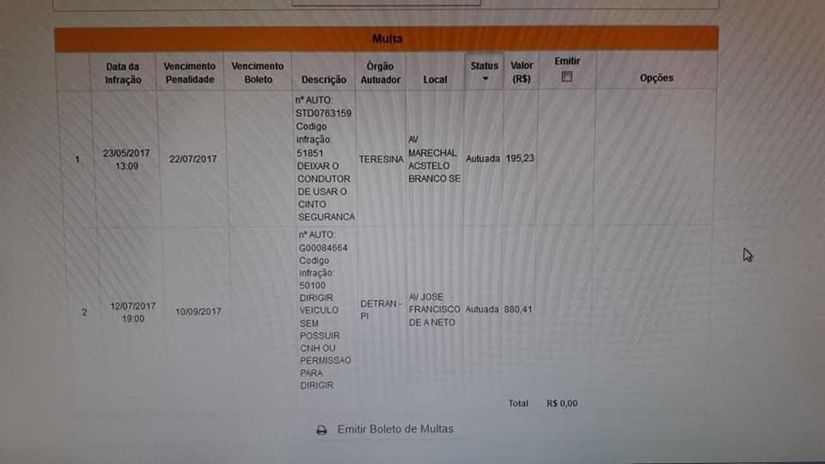 Condutor de Teresina é multado por não utilizar cinto de segurança em moto    Piauí   G1 86f04b84c6
