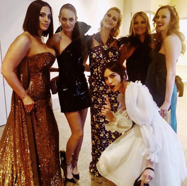 Ashley Graham, Amber Valletta, Poppy Delevingne, Kate Moss, Karen Elson e Alexa Chung (Foto: Reprodução/Instagram)
