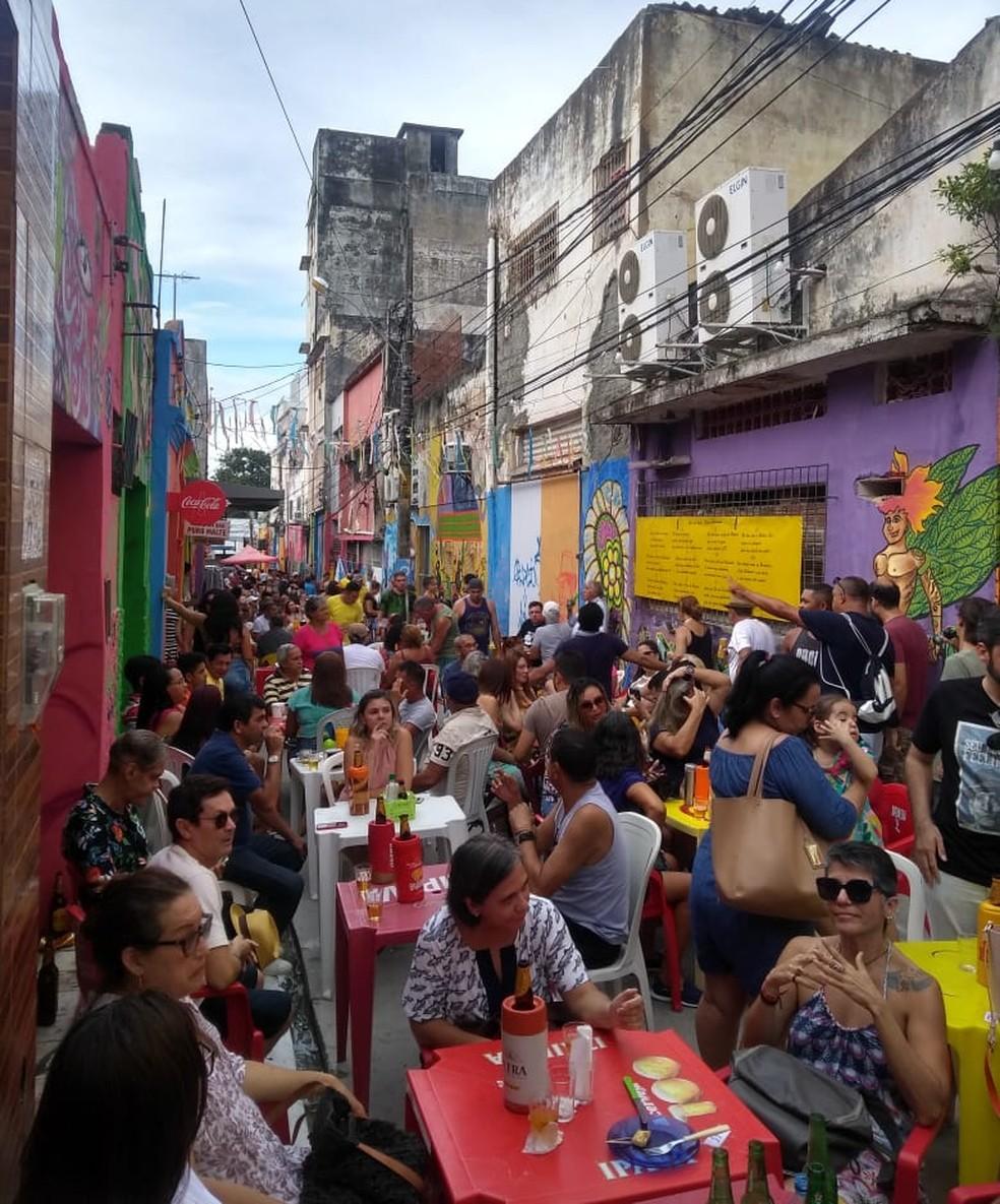 Beco da Lama foi revitalizado e recebe projetos culturais em diferentes dias da semana — Foto: Rafael Barbosa/G1